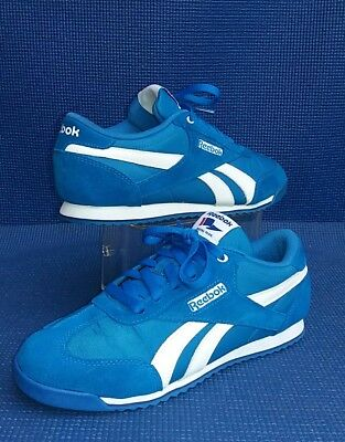 1b26b07736dc7 WOMENS REEBOK ROYAL flag blue suede trainers ...uk size 7.5 - EUR 26 ...