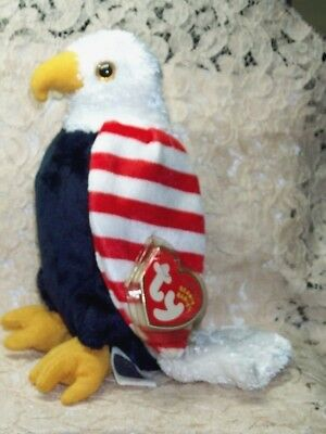 6d7179c3b7f TY beanie baby babies Soar Patriotic Eagle 7-4-2001 Internet Exclusive 61