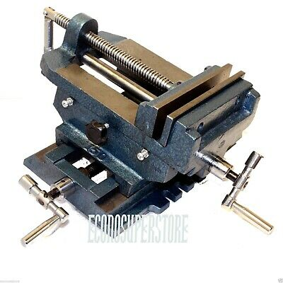 "6"" Cross Slide Drill Press Vise Metal Milling Vice Holder Clamping Bench Mount"