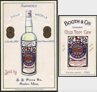 Boston 1885 New Orleans World Fair Expo Booths Old Tom Gin Victorian Trade Card