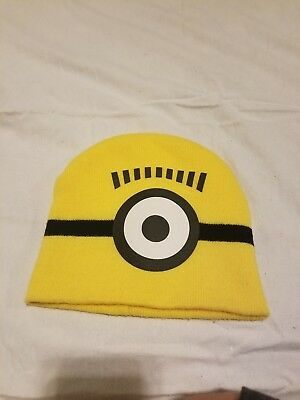de8065b7c0802 Universal Despicable Me Yellow MINION KIDS Knit Hat Beanie Skull Winter Cap
