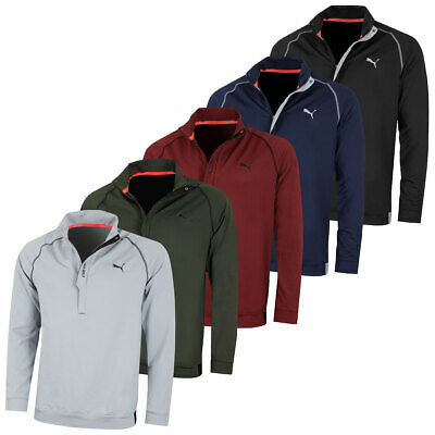 Puma Golf Mens Pwrwarm 1/4 Zip WarmCELL Stretch Performance Pullover 49% OFF RRP