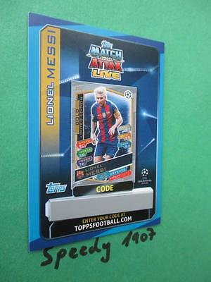 Topps Match Attax Champions League 2016 17 limited Edition Messi GOLD Code 2017