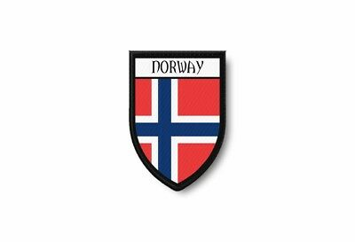 PATCH PATCHES EMBLEM IRON ON GLUE PRINT FLAG world crest norway