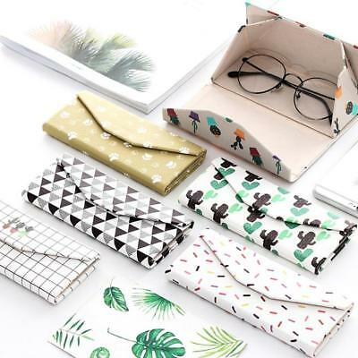 PU Portable Folding Glasses Case Cartoon Eye Glasses Sunglasses Hard Case Box AU
