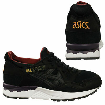 57fc0bd3aa Asics Gel-Lyte V Black Lace Up Mens Low Top Gym Sports Trainers H5D2L 9090