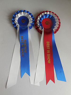 Dog Show Best in Show & Reserve Rosettes (2019)