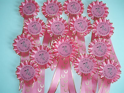 Pony Party rosettes (7 plus a 2 birthday girl rosette) (2019)