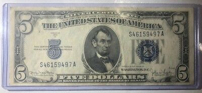 1 qty Silver Certificate 1934 D Five Dollar Bill (Excellent Quality)