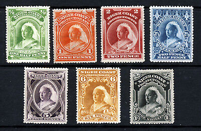 NIGER COAST NIGERIA QV 1897-98 Complete Set to 1/-  SG 66 to SG 72 MINT & MNG
