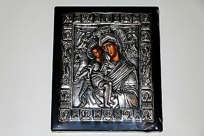 Orthodox Christian Byzantine icon Pure solid Sterling Silver 950 engraved