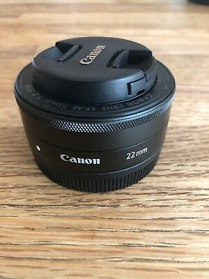 Used near Mint Canon EF-M 22mm f/2 STM Lens