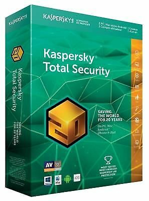 KASPERSKY - Total Security 2018 (2 Postes / 1 An) - 20ème Anniversaire NEUF