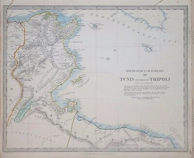 Africa - North Africa Or Barbary Iii. Tunis, Malta....for The Sduk 1836.