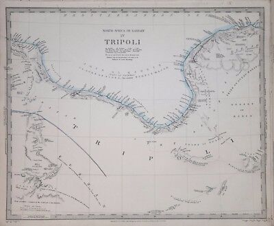 Africa - North Africa Or Barbary Iv. Tripoli....for The Sduk 1840.