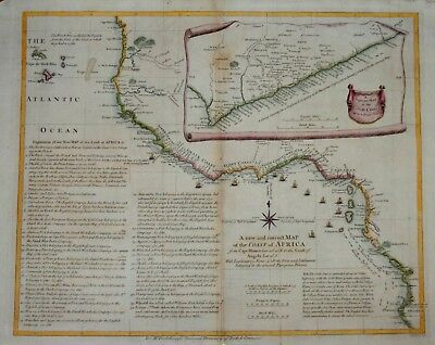 A New And Correct Map Of The (West) Coast Of Africa By Postlewayt, Circa 1760..