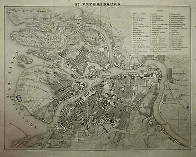 Plan Of St. Petersbourg By A. H. Dufour. Circa 1860.