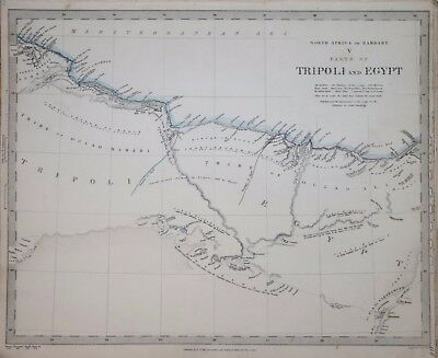 Africa - North Africa Or Barbary V. Parts Of Tripoli....for The Sduk 1840.
