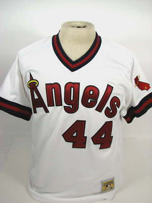 a654b517cad Mitchell   Ness Cooperstown Angels  44 Reggie Jackson Mens White Jersey Nwt  40