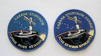 Sts-88 Nasa Space Shuttle Endeavour Mission To Iss 2 Patchs /one With Mistake/!!