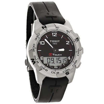 ad5a0aeea896 Tissot T-Touch II Titanium Black Band Mens Swiss Quartz Watch T047.420.47.