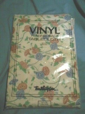 "Town and Country Linen VINYL FLANNEL BACK tablecloth SIZE 52"" x 70"" OBLONG"