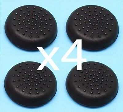 4 x Black Gaming Analog Pad Thumb Grips/Caps for PS4, Xbox One, PS3, 360