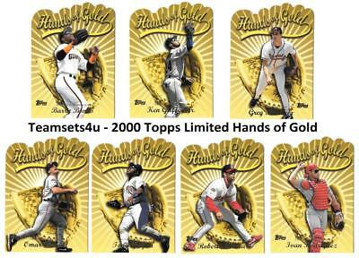 2000 Topps Limited Hands of Gold (Tiffany) Baseball Set ** Pick Your Team **