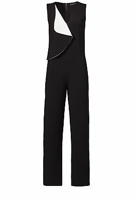 619c57f3529c Sachin   Babi Black Colorblocked Crepe Women s 12 Ruffled Jumpsuit  595-   268