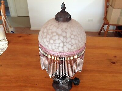 Lamp with Pink Glass shade