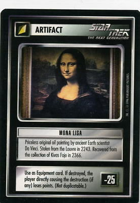 Star Trek CCG Q-Continuum, Mona Lisa. Mt/Nr-Mt.