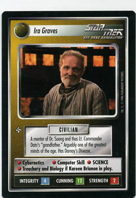 Star Trek CCG Q-Continuum, Ira Graves. Mt/Nr-Mt.