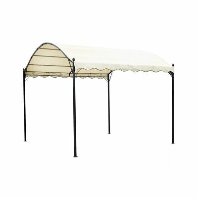 vidaXL Gazebo Fabric Cream White 4x3x2.6cm Patio Pavilion Tent Canopy Shelter