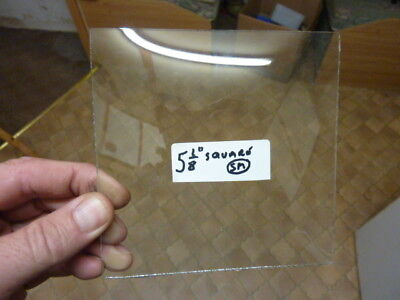 "New Old Stock 5 1/8"" Square Convex Clock Glass (Sm)"