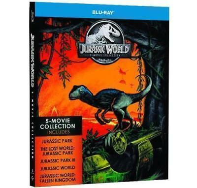 Jurassic World 5-Movie Collection Blu-Ray New Sealed 5-Disc Set