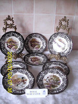 Vintage Royal Worcester Palissy Game Series - Quantity 8 Side Plates
