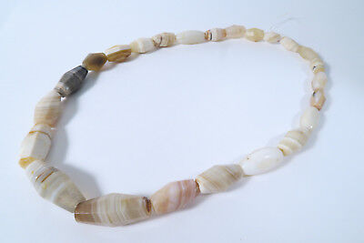 Strang Antike Achatperlen Cambay AH89 Old Agate Stone trade beads Afrozip