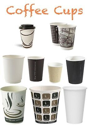 Disposable Coffee Cups / Hot Cups For Tea Coffee 8/9/10/12/14/16oz