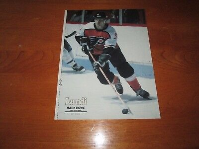 Mark Howe Poster  Color 8 By 11 Le Lundi Philadelphia Flyers  1983