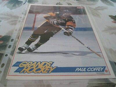 Pittsburgh Penguins  Paul Coffey   Poster  Color  8 By 11   Lundi  Denis Brodeur