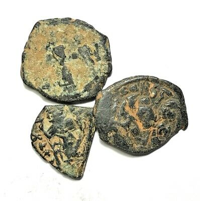 LOT OF 3pcs BYZANTINE BRONZE COINS