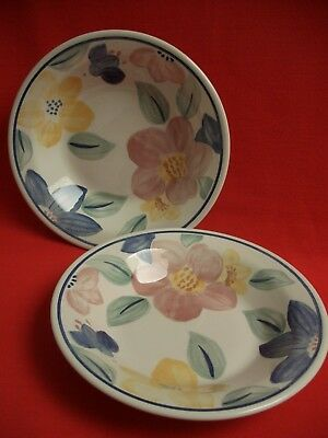 """2 Johnson Brothers England ~  Marie  ~ 10 1/4"""" Serving / Pasta / Vegetable Dish"""