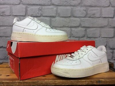 290cea632ff Nike Air Force 1 Low Basketball White Leather Trainers Childrens Boys Ladies