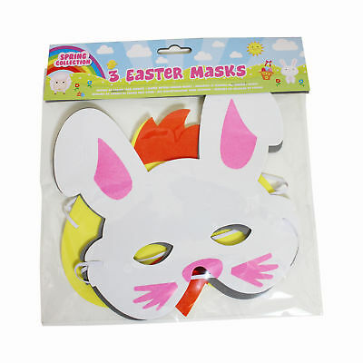 Easter Arts and Craft, Decorations, Egg Hunt - 3 Pack Character Masks