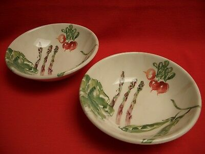 "2  Poole Pottery ~ Farmer's/farmers Market ~ 7 3/4"" Pasta/ Cereal/ Serving Bowl"