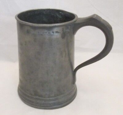 An Early 19th Century Pewter Quart Tankard - Punch marks