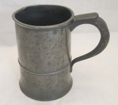 A 19th Century Pewter Quart Tankard - Marked