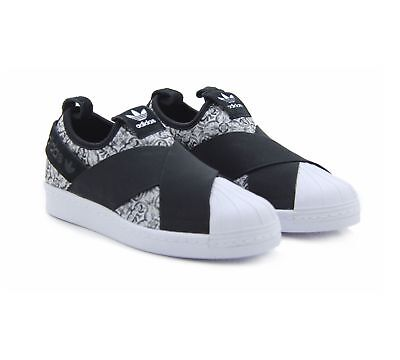 huge selection of e7f4d 1a37e ADIDAS SUPERSTAR SLIP-ON BY9141 Womens Trainers Shoes Originals US 6 to 9