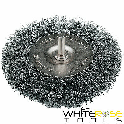 Silverline Rotary Wire Wheel Brush Cleaning Stone Metal Paint Remover