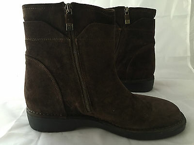 80a1655884f2 NEW Alberto Fermani Brown Suede Ankle Boot